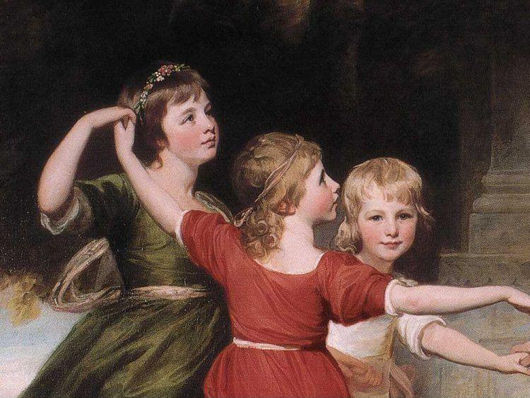 George Romney. The Levenson-Gower Children. Detail.