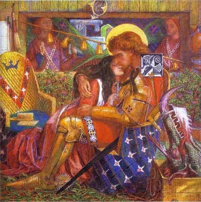 Dante Gabriel Rossetti. The Wedding  of St. George and the Princess Sabra.