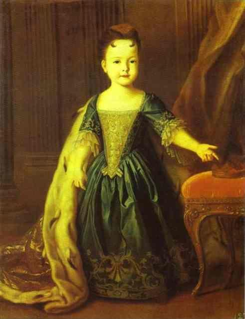Louis Caravaque. Portrait of Natalia Petrovna.