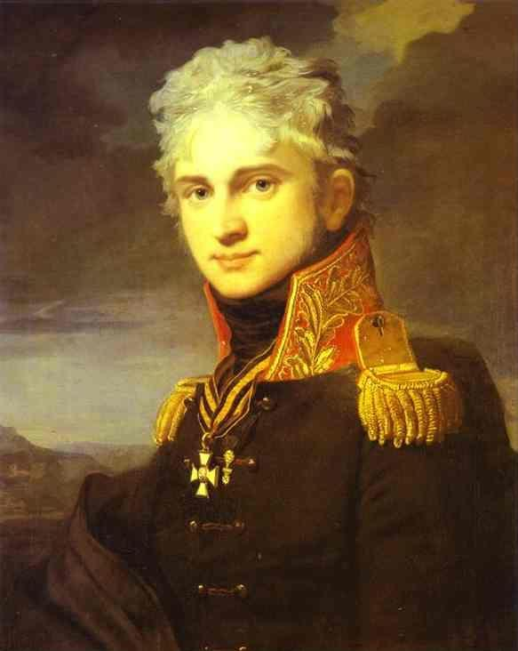 Jean-Laurent Mosnier. Portrait of Count Pavel  Stroganoff (1772-1817).