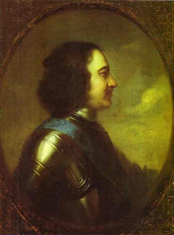 Johann Gottfried Tannauer. Portrait of Peter  the Great.
