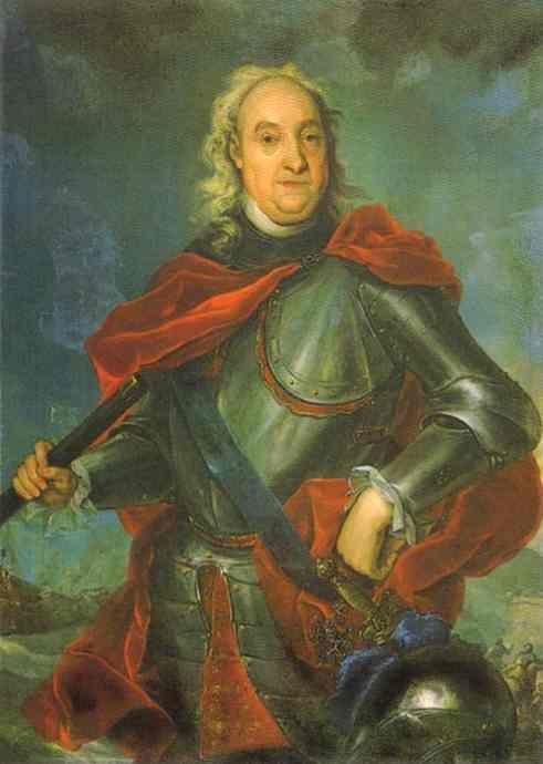 Johann Gottfried Tannauer. Portrait of Count  Fedor Apraksin.