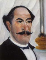 Henri Rousseau.  Portrait