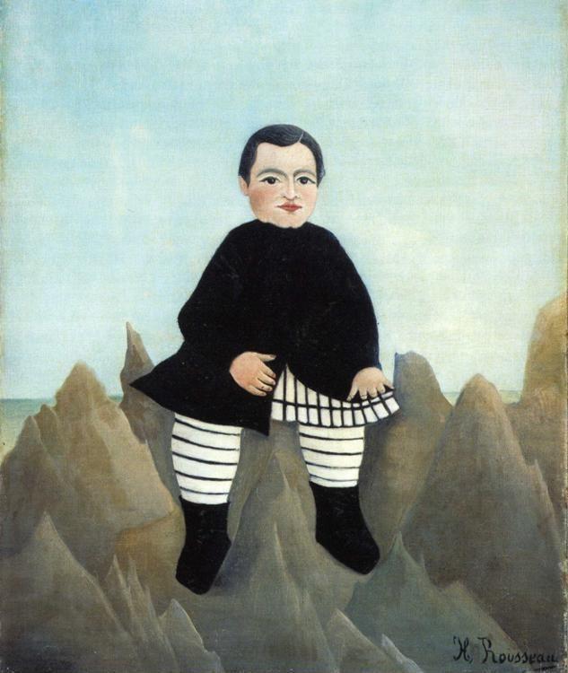 Henri Rousseau. Boy on the Rocks - Olga's Gallery