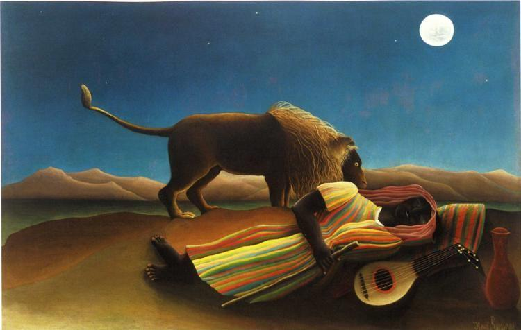 Henri Rousseau. The Sleeping Gypsy.