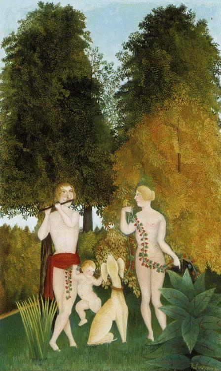Henri Rousseau. Happy Quartet.