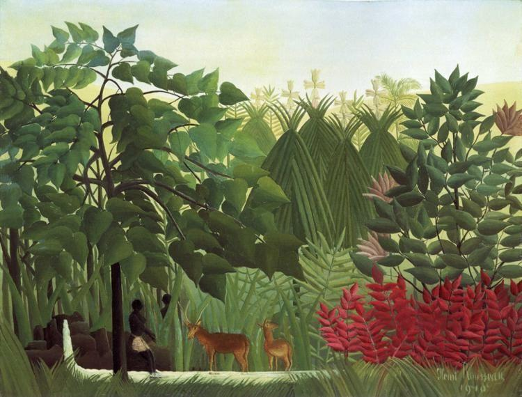 Henri Rousseau. The Waterfall.