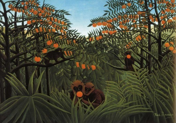 Henri Rousseau. Monkeys in the Jungle.