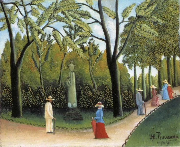 henri rousseau jardin du luxembourg. Black Bedroom Furniture Sets. Home Design Ideas