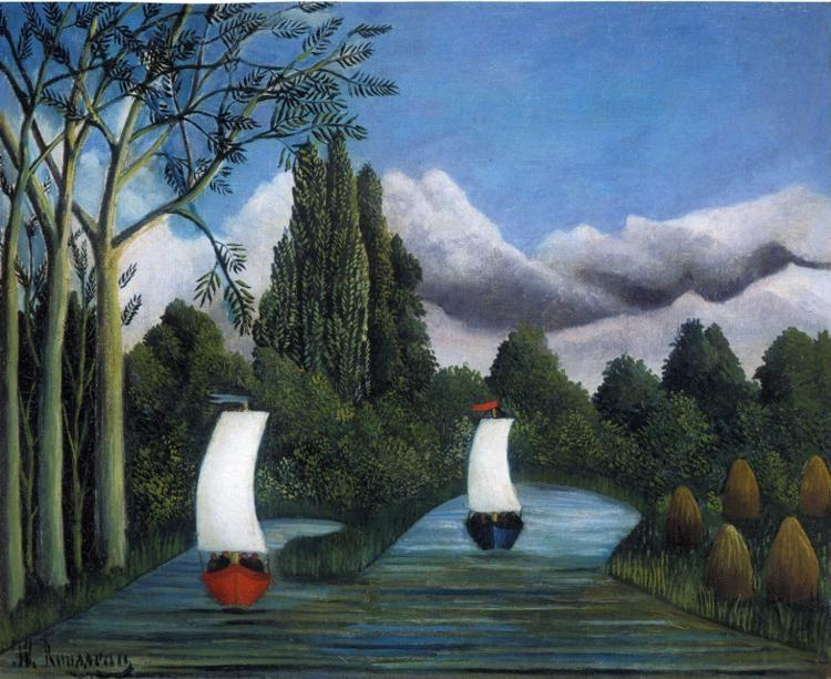 Henri Rousseau. Banks of the Oise.