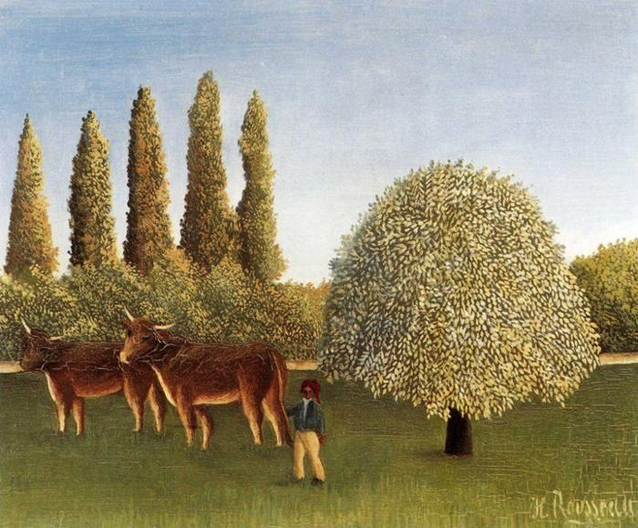 Henri Rousseau. The Pasture./ L'herbage.