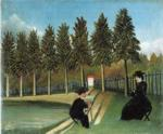 Henri Rousseau. Painter and Model.