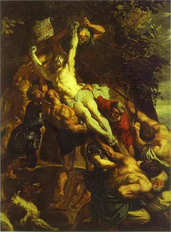 Peter Paul Rubens. The Elevation of the Cross  (central part of the triptych).