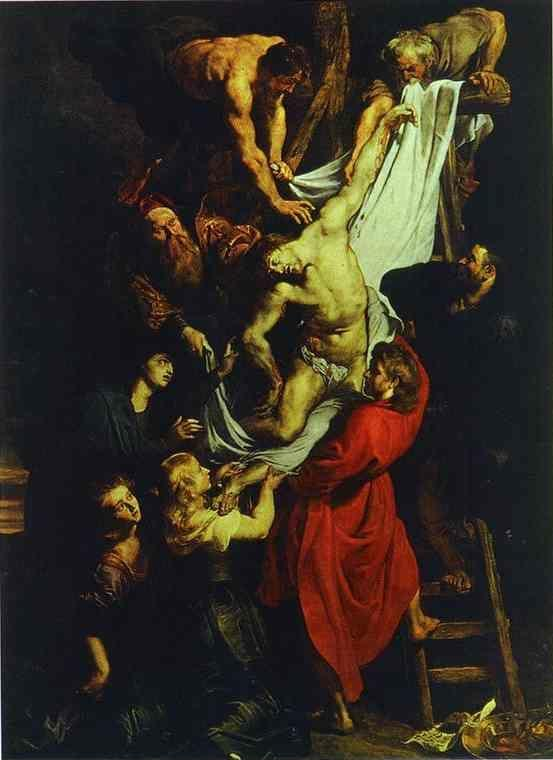 Peter Paul Rubens. The Descent from the Cross  (central part of the triptych).