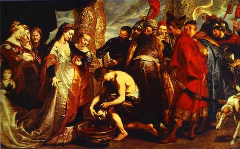 Peter Paul Rubens. Queen Tomyris before the  Head of Cyrus.