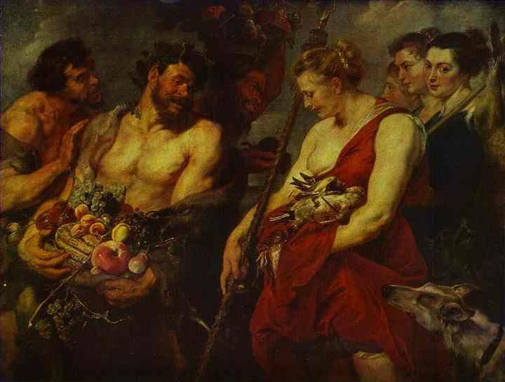 Peter Paul Rubens and Frans Snyders (the animals  and fruit). Diana Returning from the Chase.