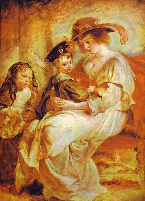 Peter Paul Rubens. Helene Fourment with Her  Children.