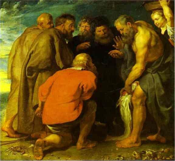 Peter Paul Rubens. St. Peter Finding the  Tribute Money.