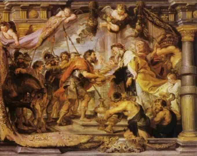 Peter Paul Rubens. The Meeting of Abraham  and Melchizedek.