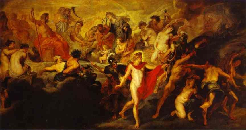 Peter Paul Rubens. The Council of the Gods.