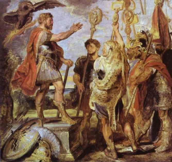Peter Paul Rubens. Decius Mus Addressing  the Legions.