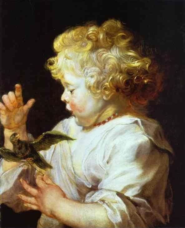 Peter Paul Rubens. Infant with a Bird.