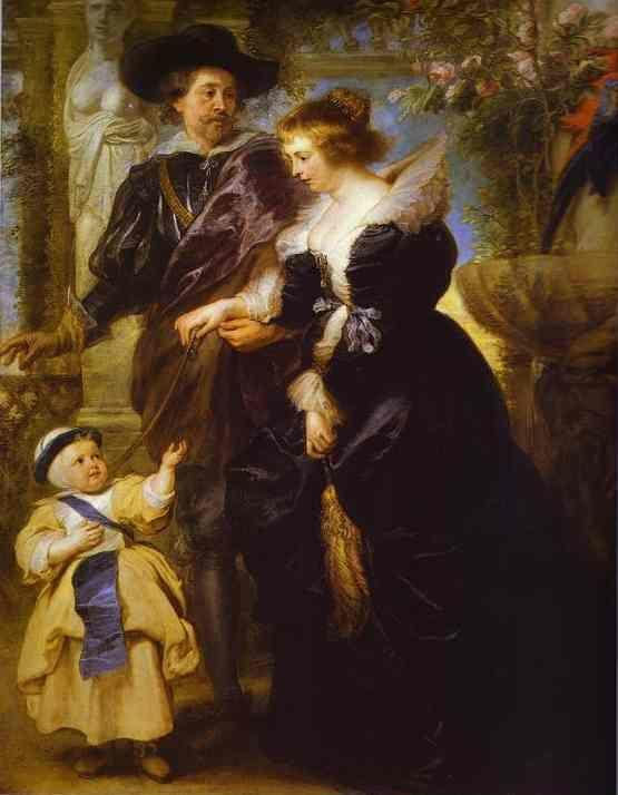 Peter Paul Rubens. Rubens, His Wife Helena  Fourment, and Their Son Peter Paul.