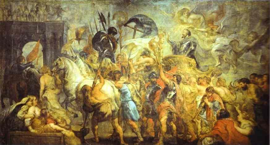 Peter Paul Rubens. The Triumph Entrance of  Henry IV into Paris.