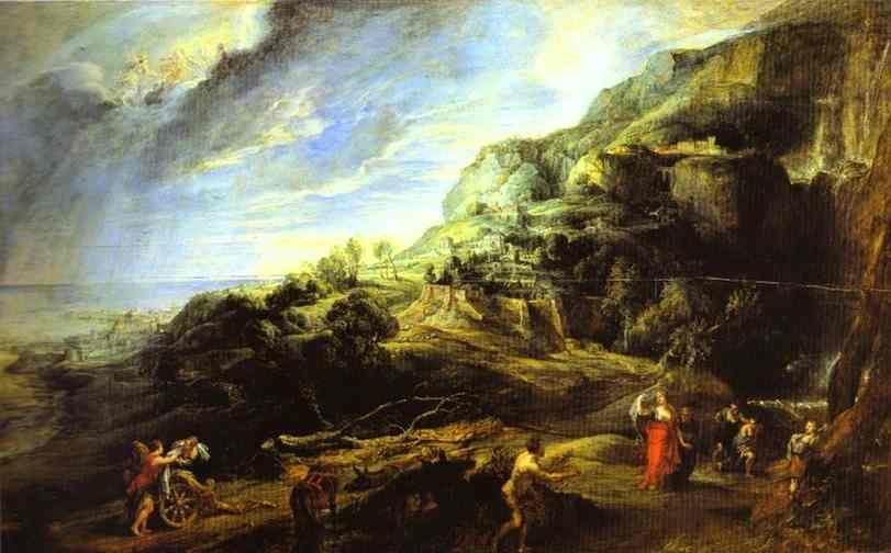 Peter Paul Rubens. Ulysses on the Island  of the Phaeacians.