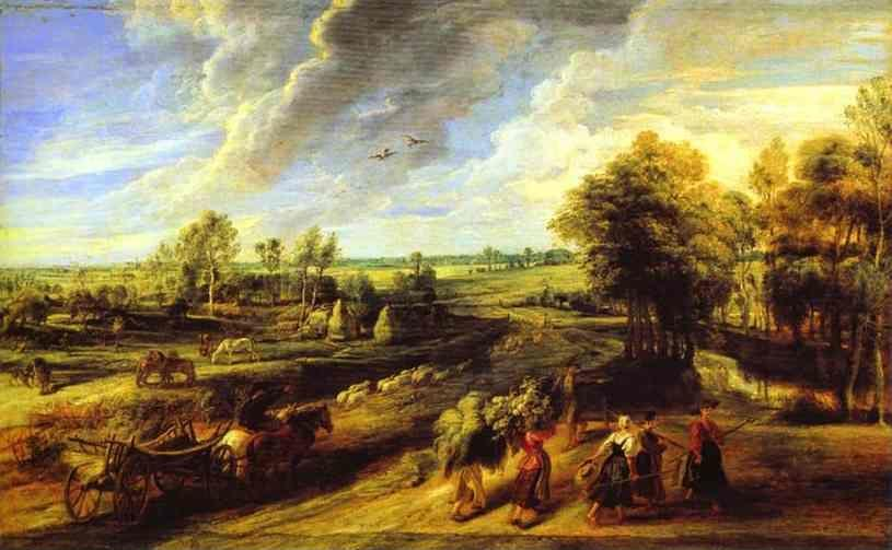 Peter Paul Rubens. Return of the Peasants  from the Fields.