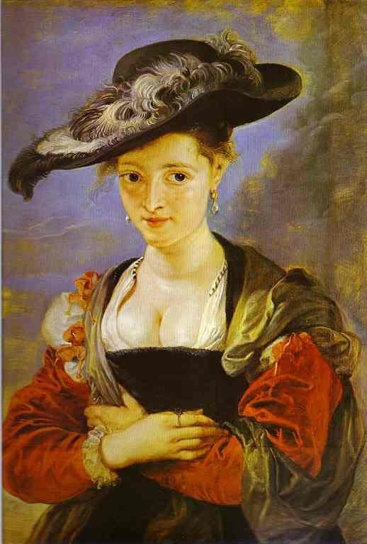 "Peter Paul Rubens. Portrait of Susanne Fourment  (""Le Chapeau de paille"")."