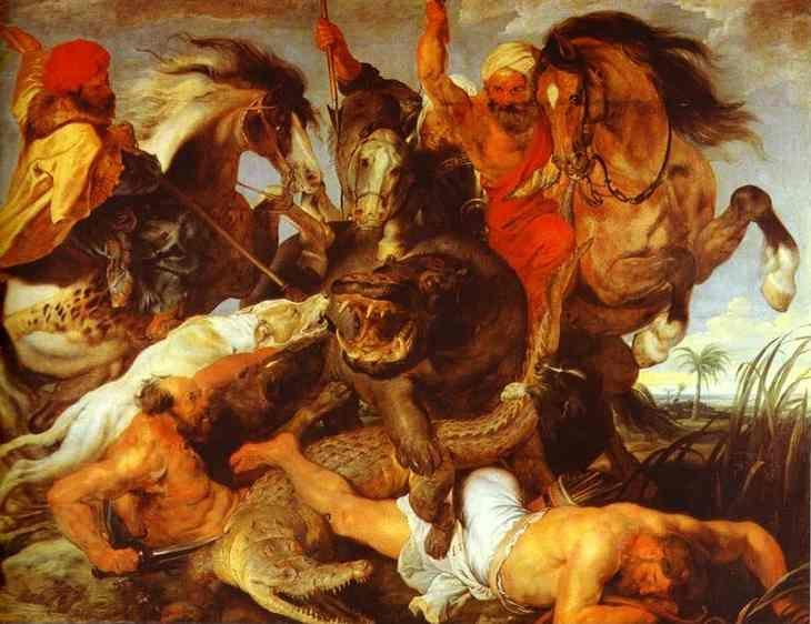 Peter Paul Rubens. Hippopotamus and Crocodile  Hunt.