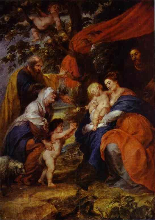 Peter Paul Rubens. The St. Ildefonso Altar  (outer wings). The Holy Family under the Apple-Tree.