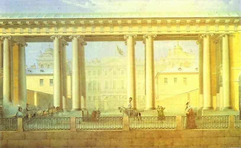 Vasily Sadovnikov. The Anichkov Palace in St. Petersburg.