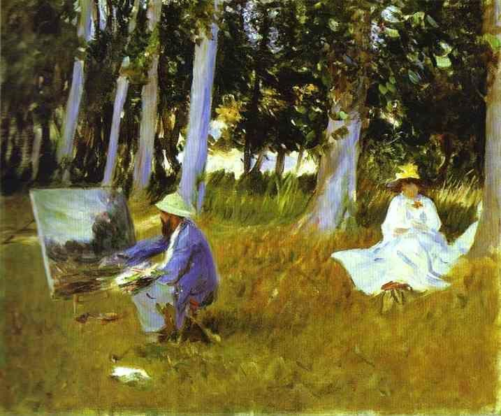 John Singer Sargent. Claude Monet Painting at the Edge of a Wood.