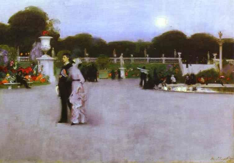 John Singer Sargent. The Luxembourg Garden at Twilight.