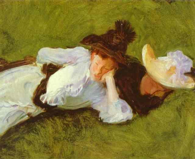 John Singer Sargent. Two Girls on a Lawn.