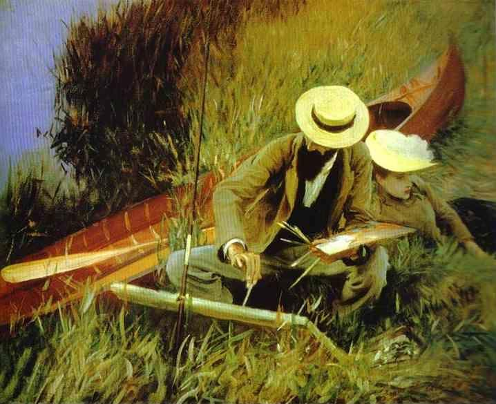 John Singer Sargent. Paul Helleu Sketching His Wife Alice.