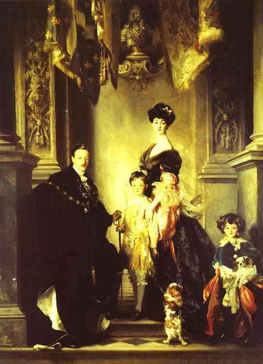 John Singer Sargent. The Family of the Duke of Marlborough.