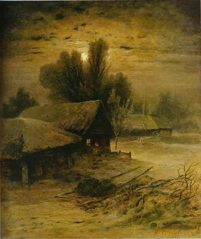 Alexey Savrasov. Winter Night.