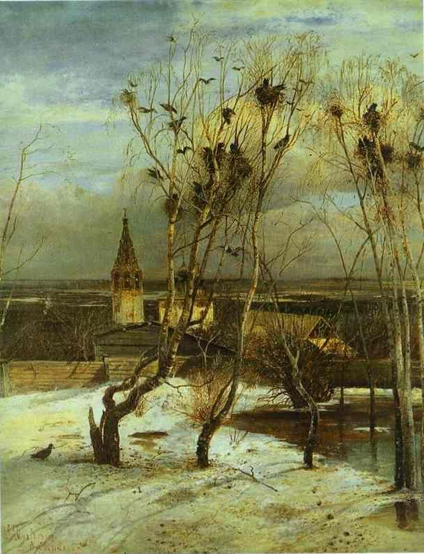 Alexey Savrasov. The Rooks Have Come.
