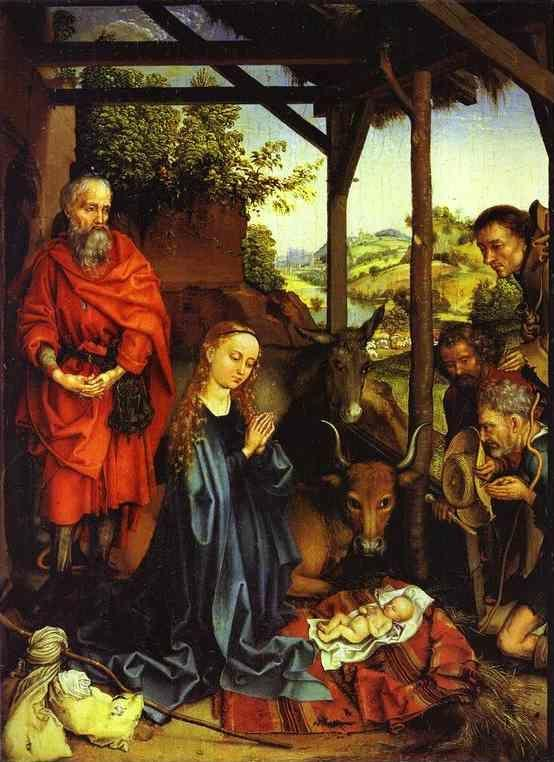 Martin Schongauer. Adoration of the Shepherds.