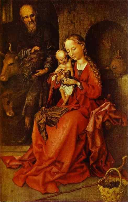 Martin Schongauer. The Holy Family.