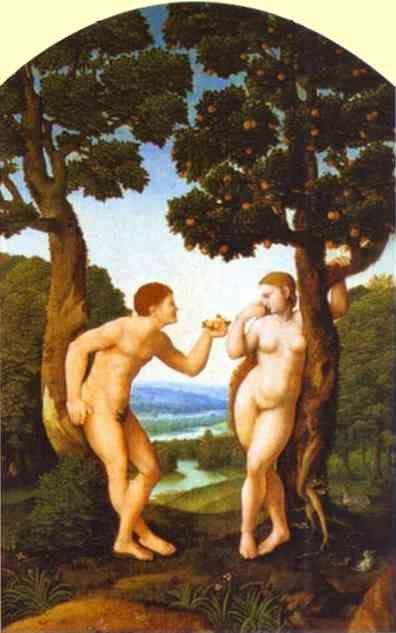 Jan van Scorel. Adam and Eve.
