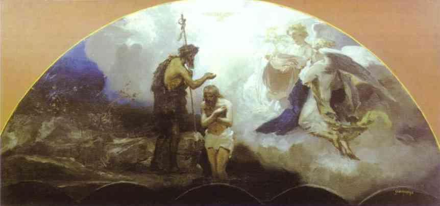 Henryk Siemiradzki. Baptism of Christ.
