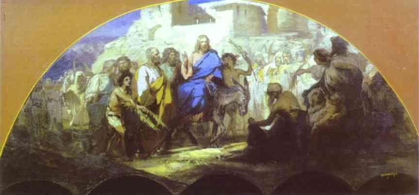 Henryk Siemiradzki. Entrance of Christ into Jerusalem.