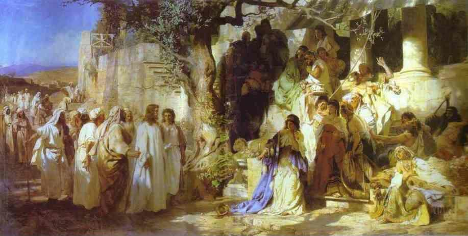 Henryk Siemiradzki. Christ and Sinner. The First Meeting of Christ and Mary Magdalene.