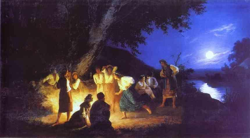 Henryk Siemiradzki. Night on the Eve of Ivan Kupala.