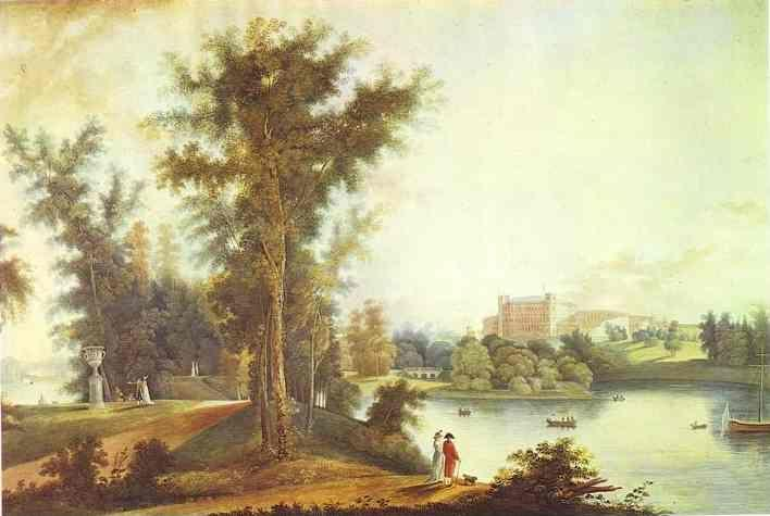 Semion Shchedrin. View on the Gatchina Palace from Long Island.