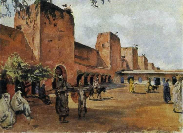 Zinaida Serebriakova. Marrakesh. Walls and Towers of the Town.
